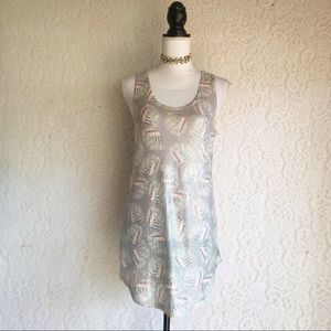 Grey Sequin Sleeveless Tunic